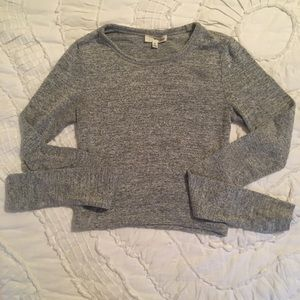 Aritzia Wilfred Free Gray Crop Long Sleeve